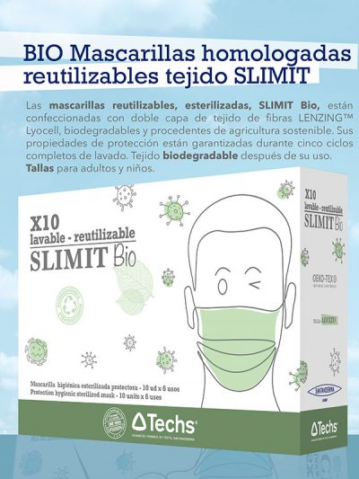 Protection hygienic mask - SLIMIT adult bio - 10 units